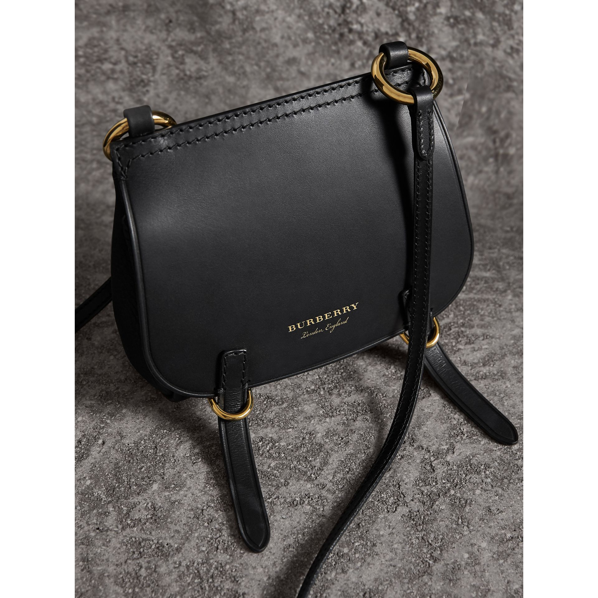 The Baby Bridle Bag in Leather in Black - Women | Burberry - gallery image 6
