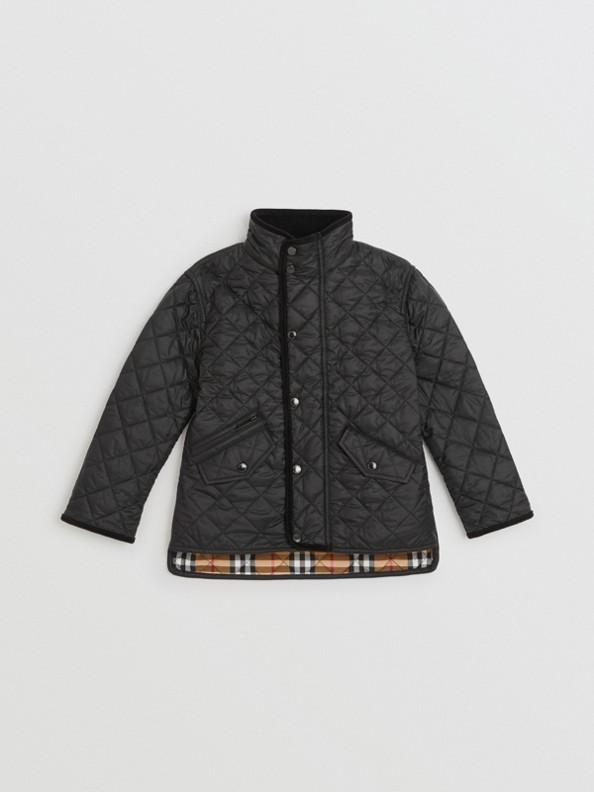 라이트 다이아몬드 퀼트 재킷 (블랙)