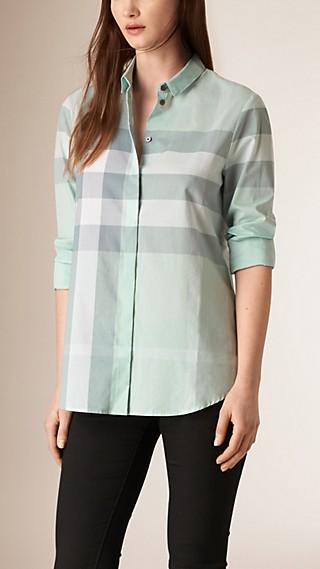 Chemise en coton à motif check