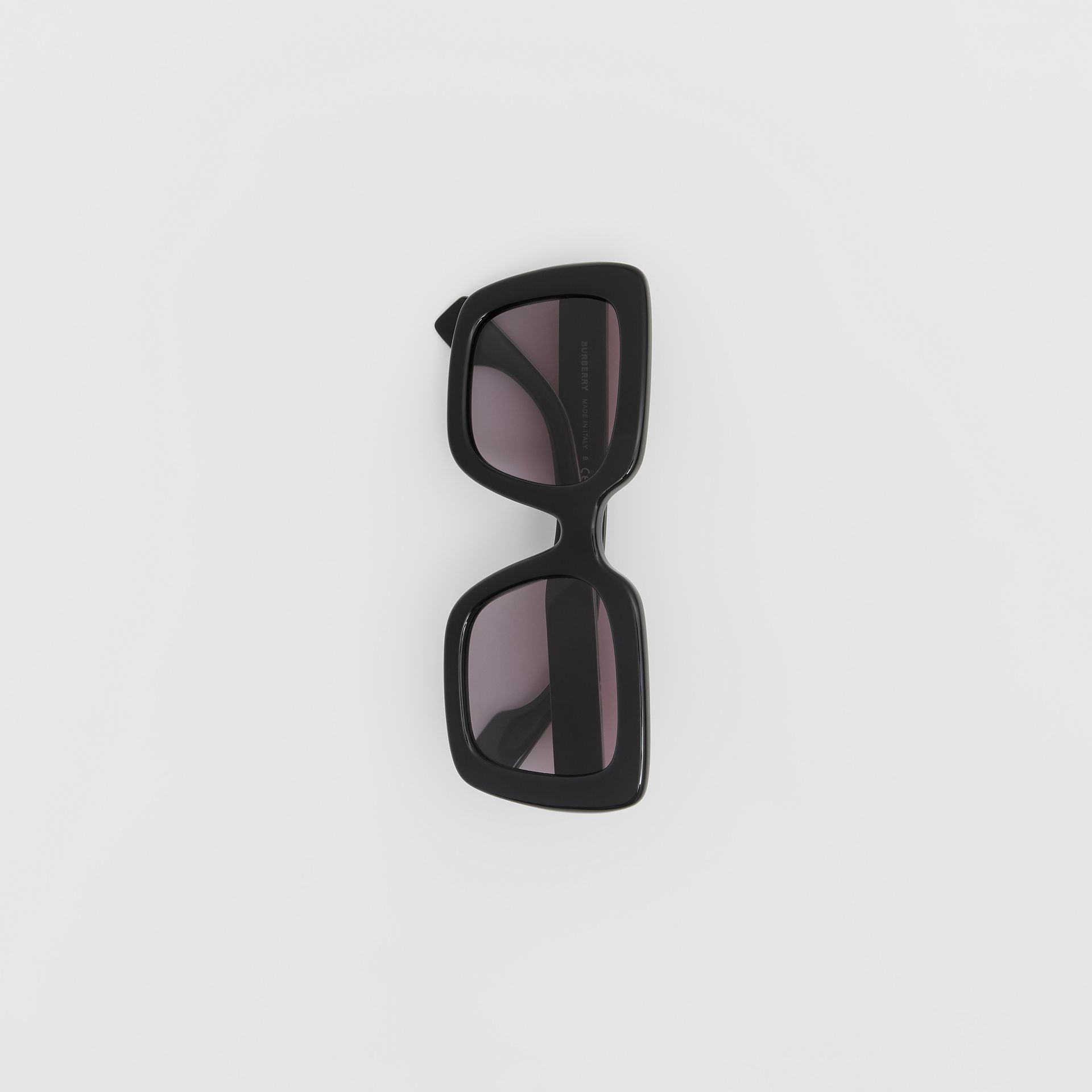 Oversized Square Frame Sunglasses in Black - Women | Burberry - gallery image 2