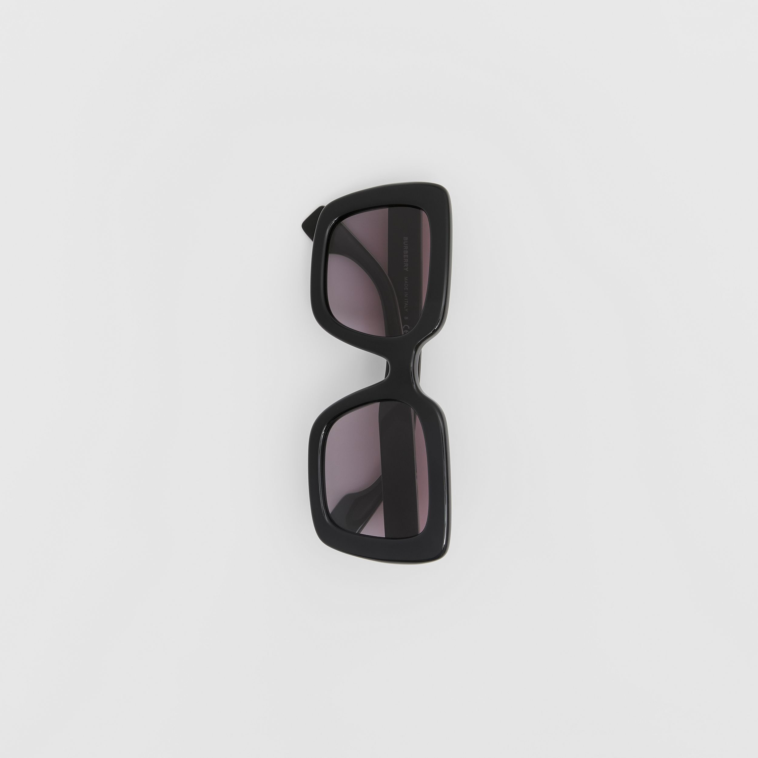 Oversized Square Frame Sunglasses in Black - Women | Burberry Singapore - 3