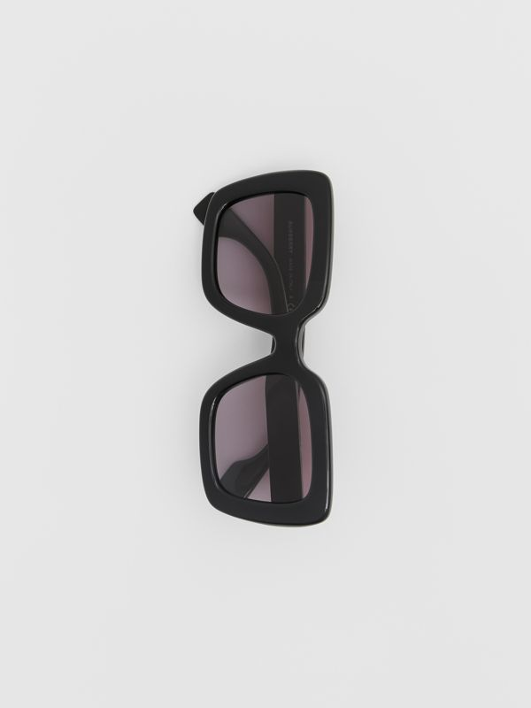 Oversized Square Frame Sunglasses in Black - Women | Burberry - cell image 2