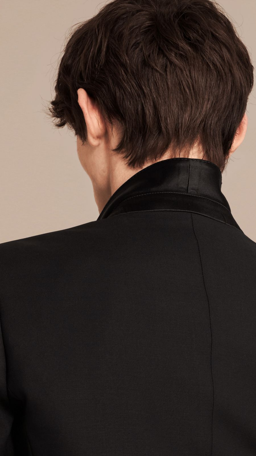 Black Slim Fit Wool Mohair Half-canvas Tuxedo - Image 6