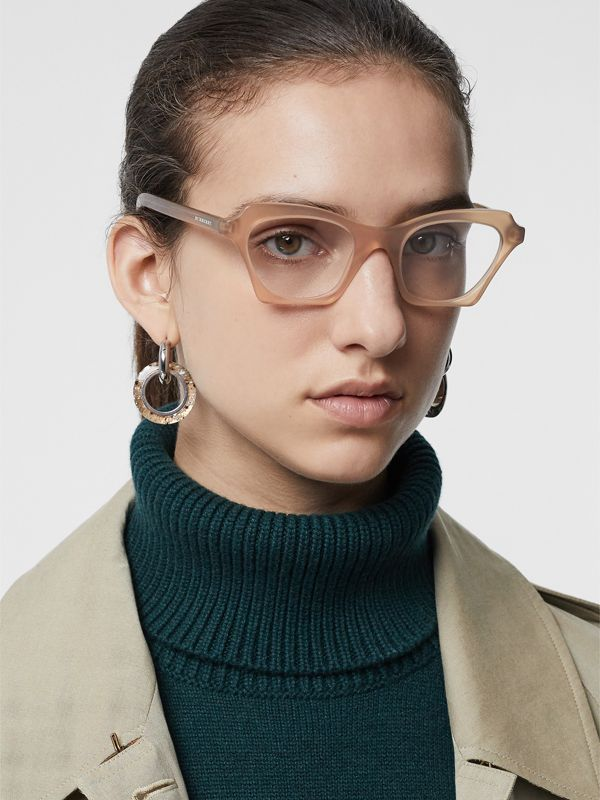 Butterfly Optical Frames in Brown - Women | Burberry Singapore - cell image 2