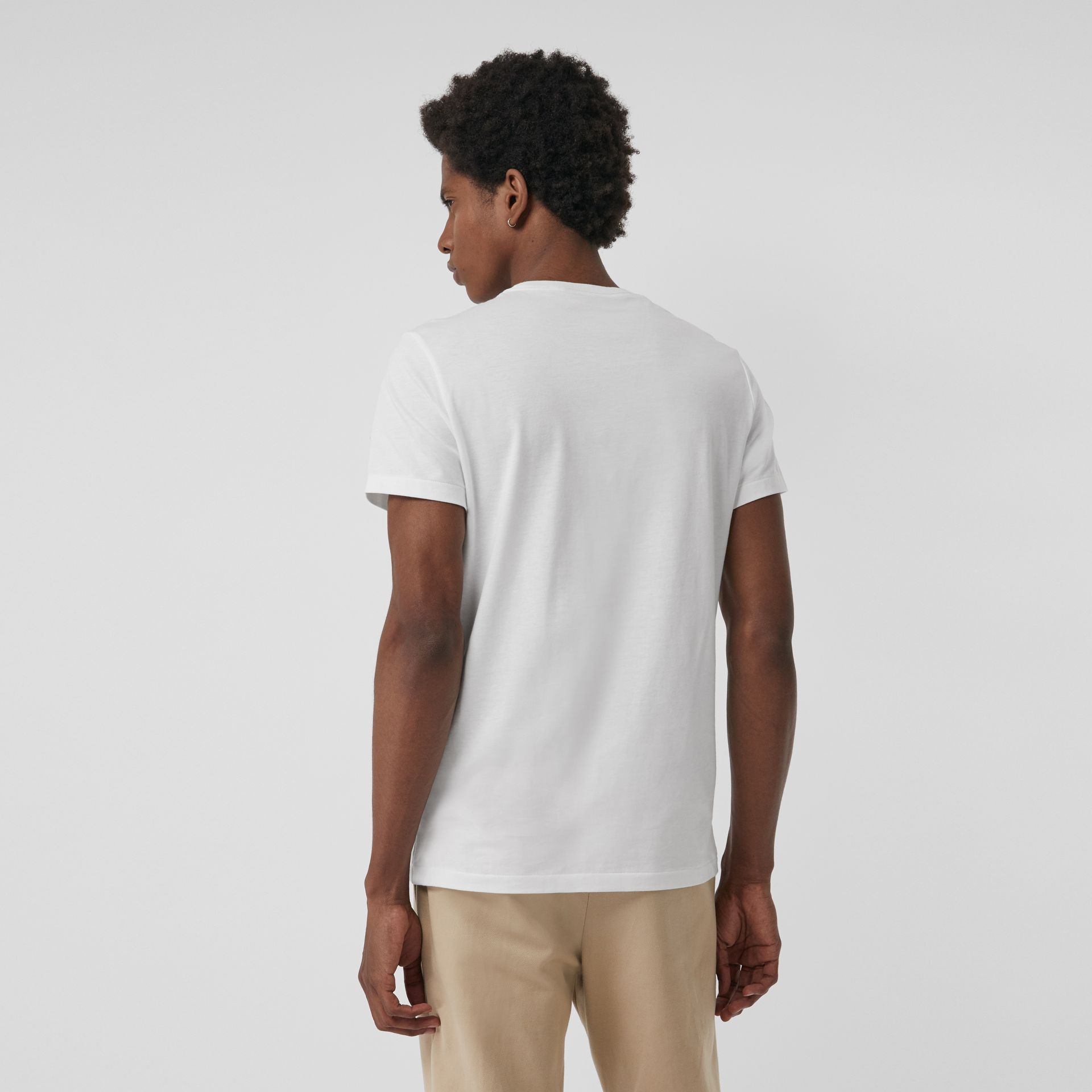 Cotton Jersey T-shirt in White - Men | Burberry - gallery image 2