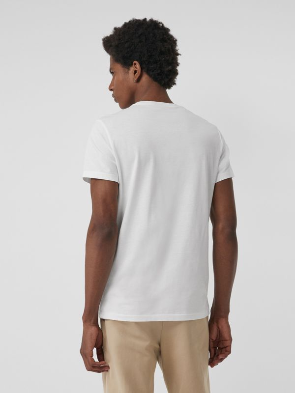 Cotton Jersey T-shirt in White - Men | Burberry Singapore - cell image 2