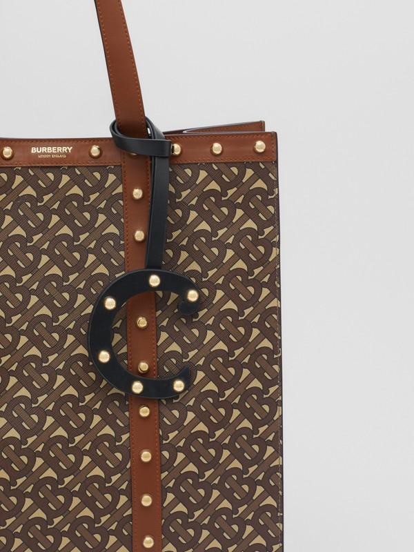 Taschenanhänger aus Leder in C-Form mit Ziernieten (Schwarz/helles Goldfarben) - Damen | Burberry - cell image 3
