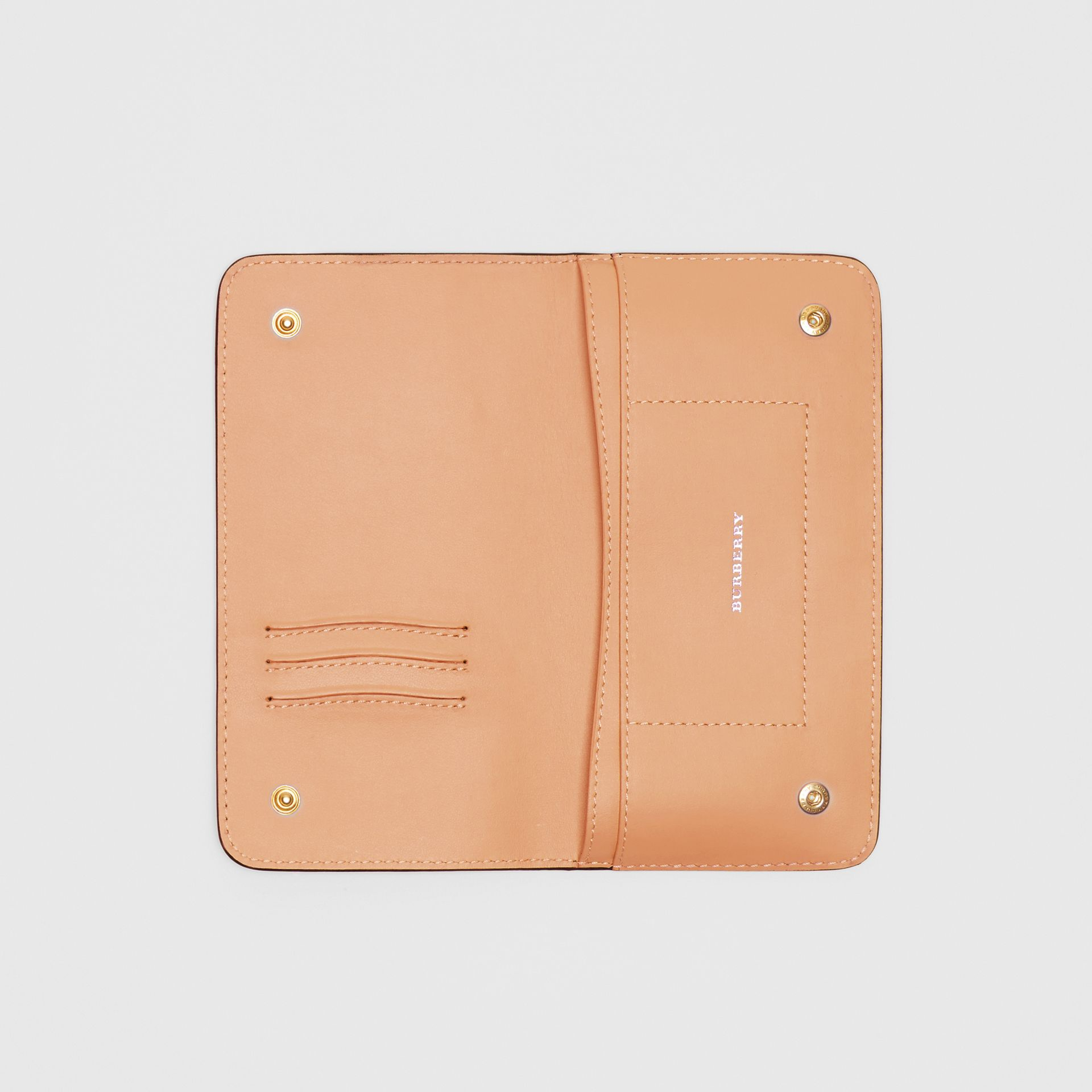 EKD Leather Phone Wallet in Light Camel - Women | Burberry - gallery image 2