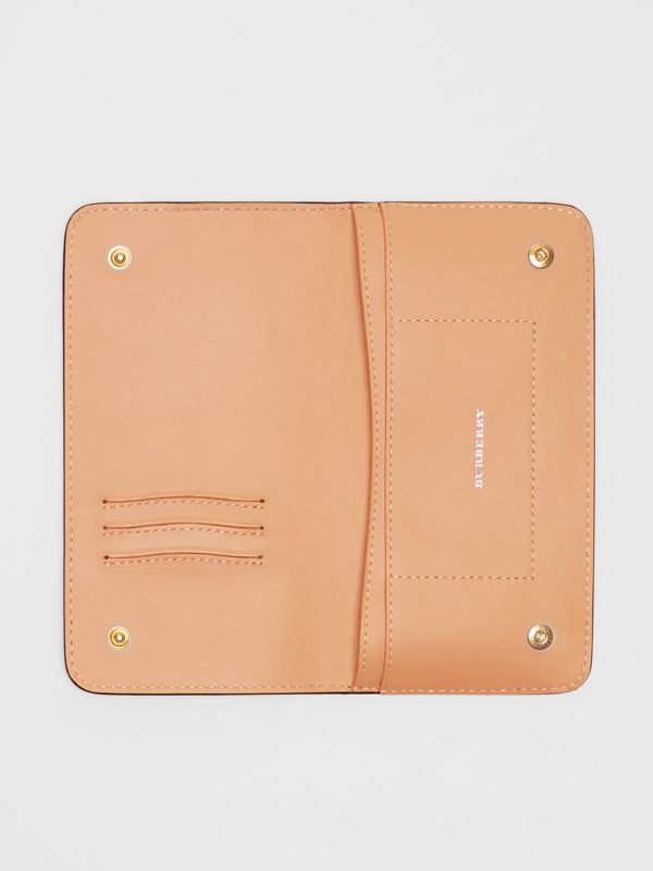 EKD Leather Phone Wallet in Light Camel - Women | Burberry - cell image 2