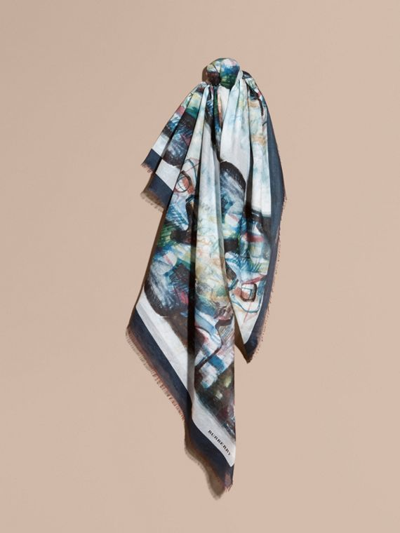 Reclining Figure: Bunched Print Cotton Square – Large - Women | Burberry Canada