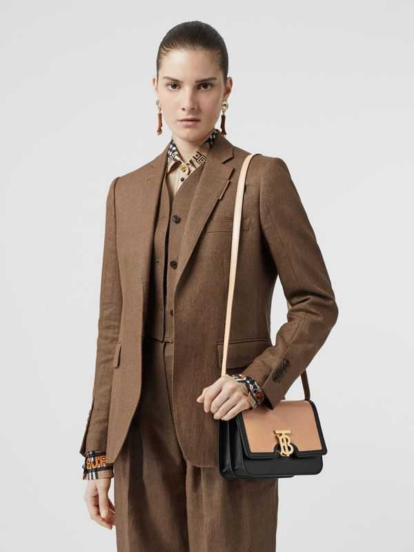 Small Leather TB Bag in Light Camel/black - Women | Burberry United Kingdom - cell image 2