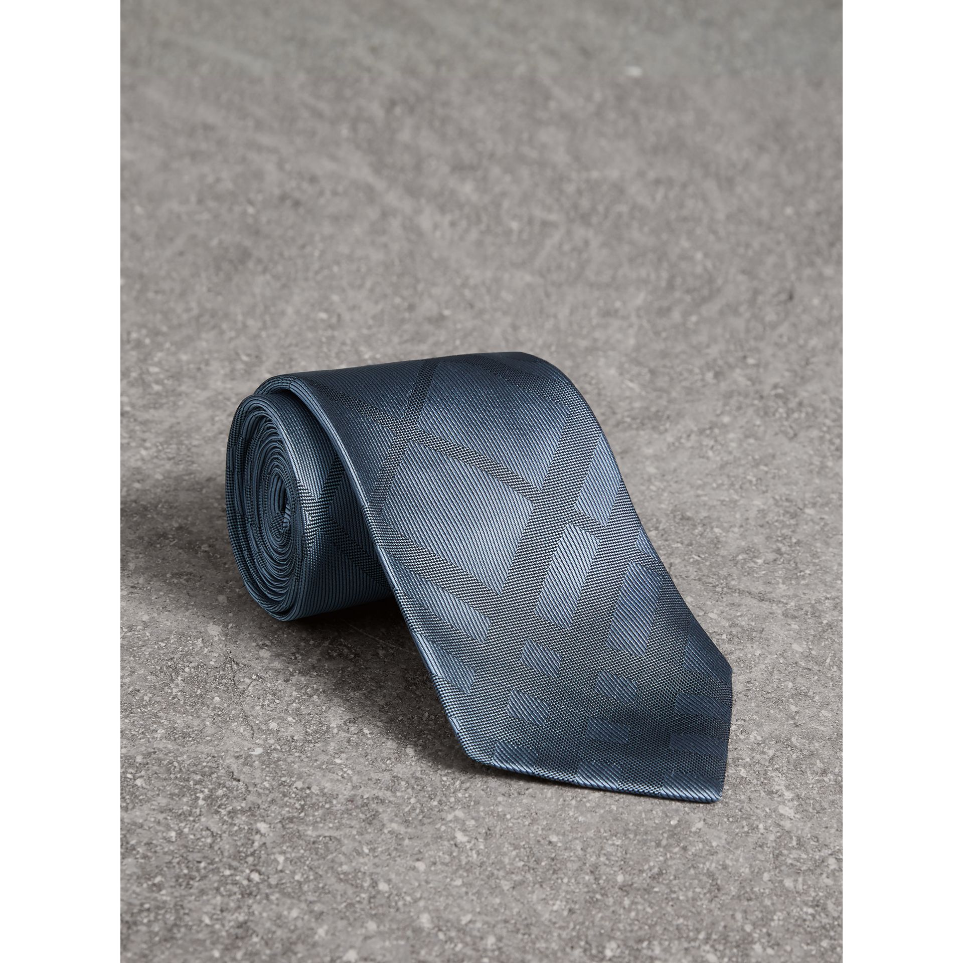 Classic Cut Check Silk Jacquard Tie in Light Blue - Men | Burberry - gallery image 0