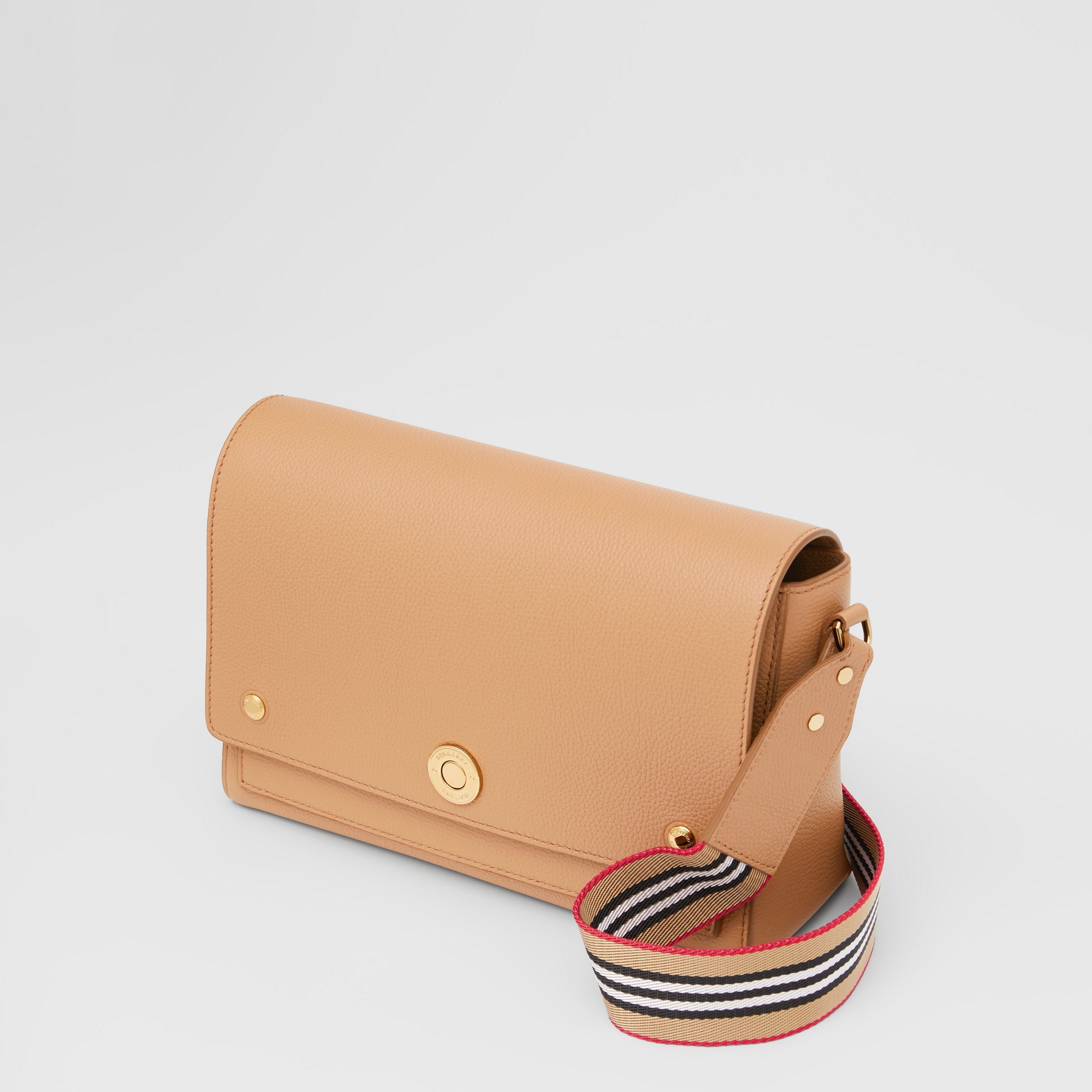 Grainy Leather Note Crossbody Bag in Camel - Women | Burberry - 4