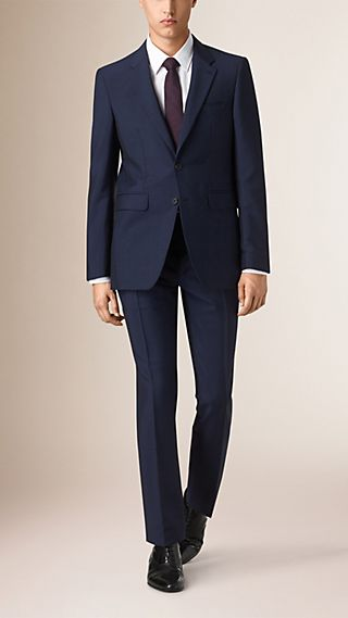 Modern Fit Wool Mohair Part-canvas Suit