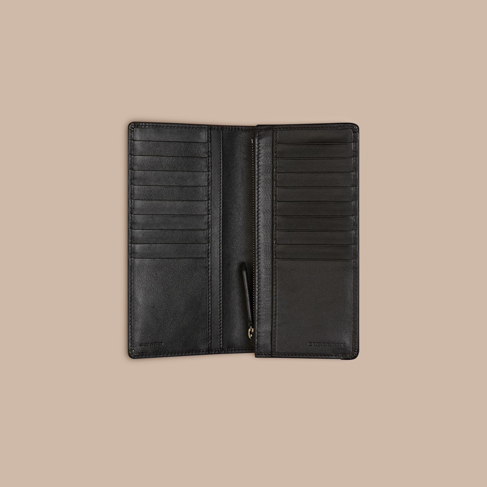 Horseferry Check Continental Wallet in Charcoal/black - gallery image 4
