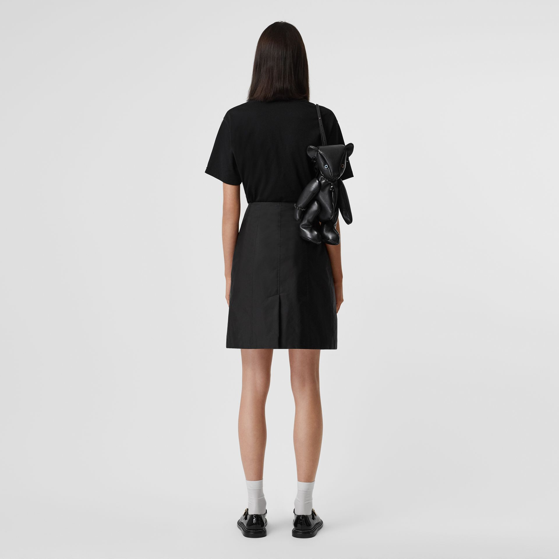Nylon Trench Skirt in Black - Women | Burberry - gallery image 3