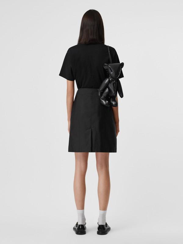 Nylon Trench Skirt in Black - Women | Burberry - cell image 3