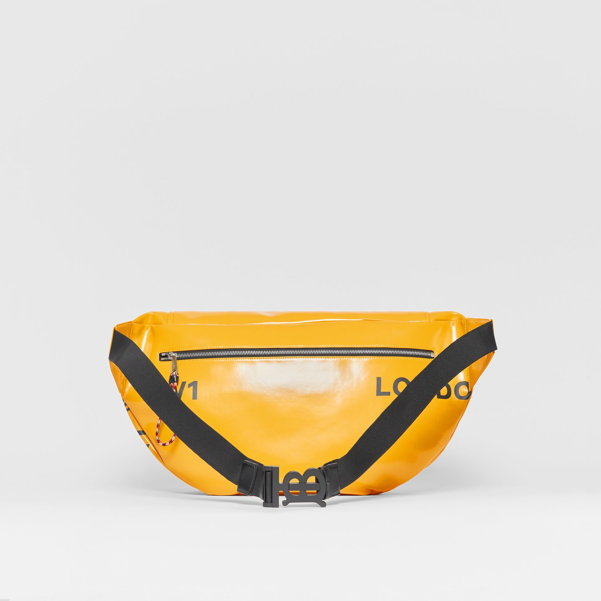 Extra Large Horseferry Print Coated Canvas Bag in Yellow - Men | Burberry United States - gallery image 6