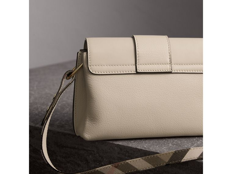 The Buckle Crossbody Bag in Leather in Limestone - Women | Burberry - cell image 4