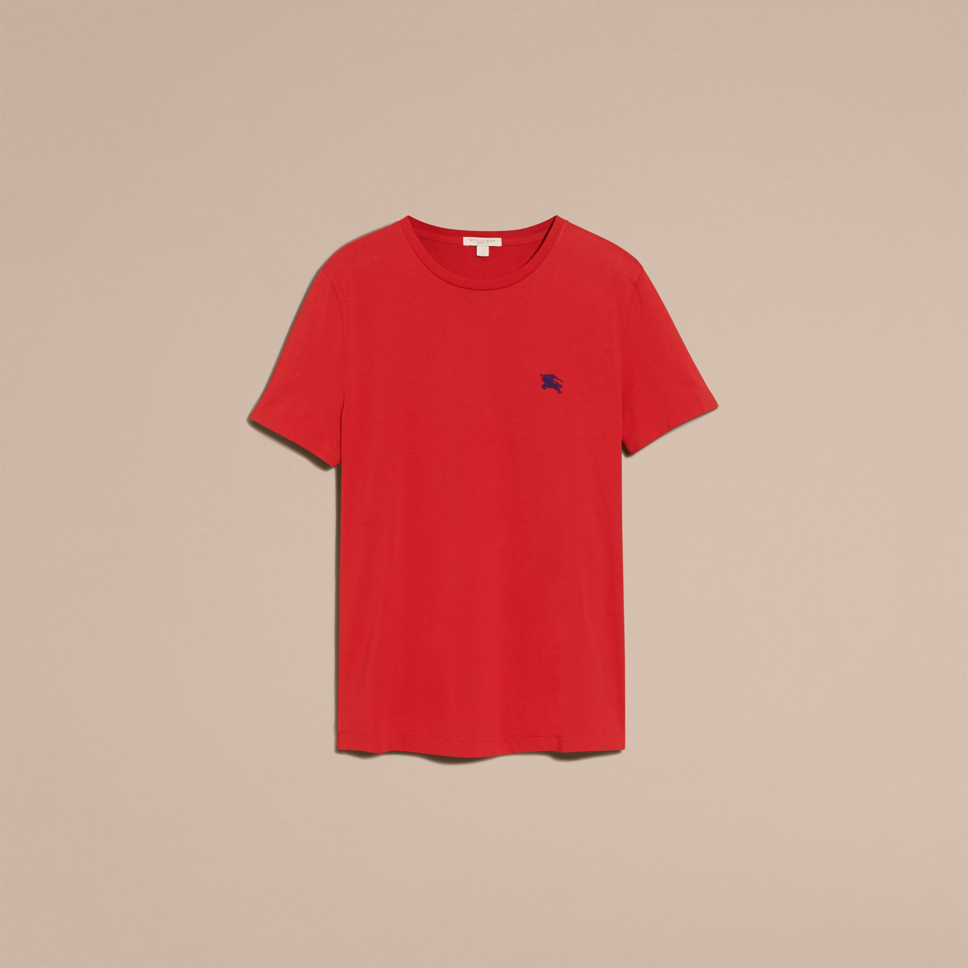 Military red Liquid-soft Cotton T-Shirt Military Red - gallery image 4