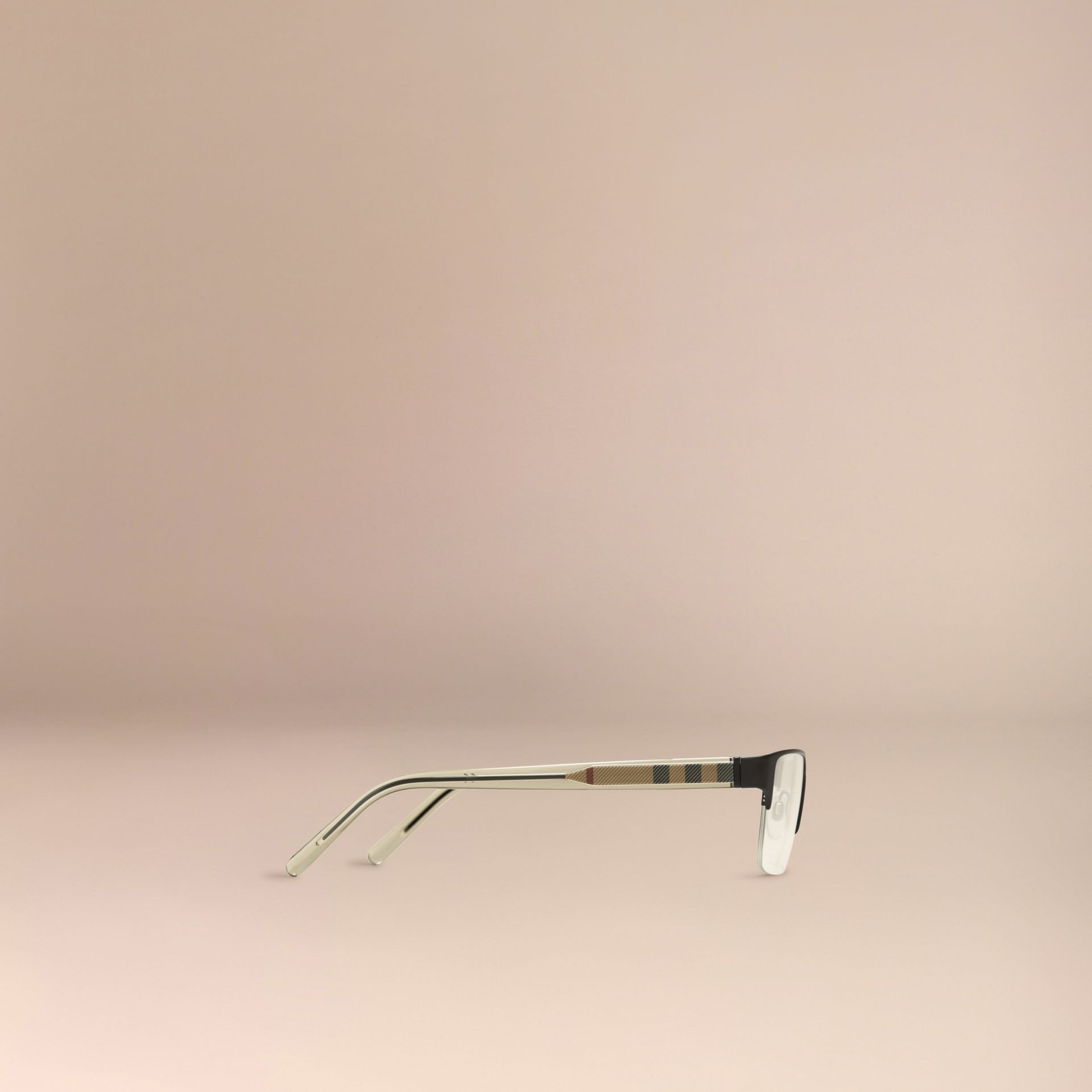 Check Detail Rectangular Optical Frames in Black - gallery image 4