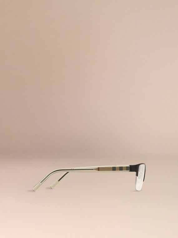 Check Detail Rectangular Optical Frames in Black - cell image 3