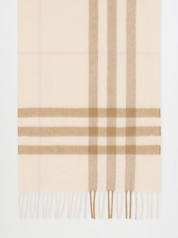 The Classic Check Cashmere Scarf in White/alabaster | Burberry - cell image 3