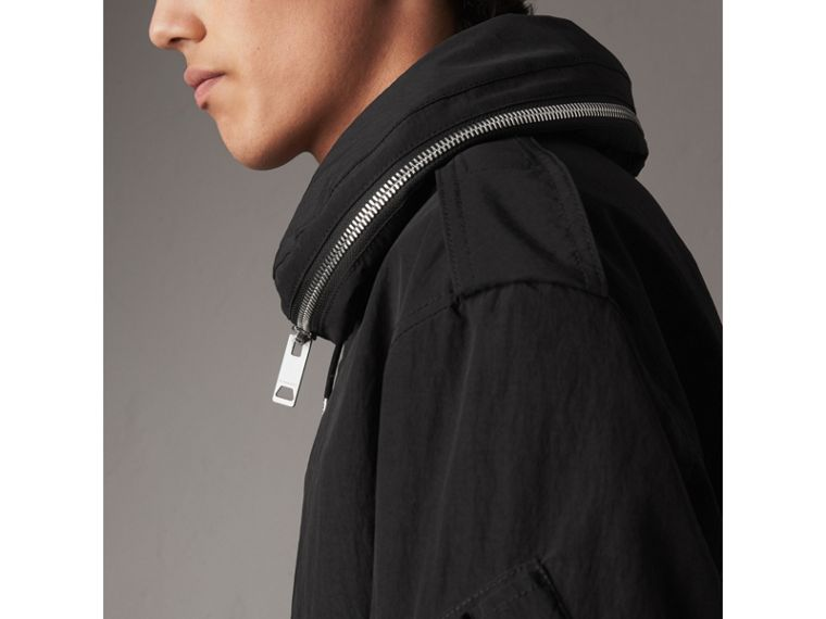 Rainproof Flyweight Jacket with Packaway Hood in Black - Men | Burberry - cell image 1