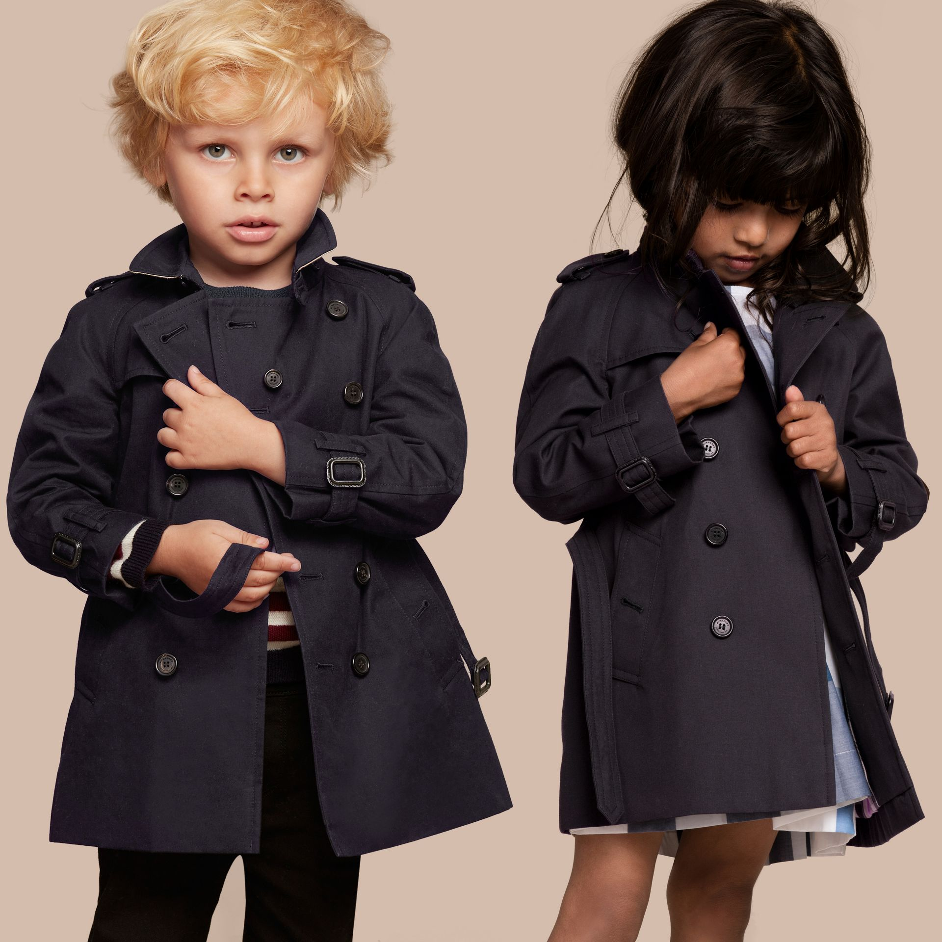 The Wiltshire – Heritage Trench Coat Navy - gallery image 1