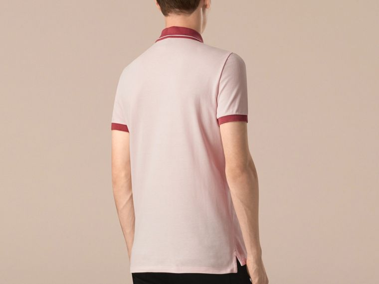 City pink/white Contrast Trim Cotton Piqué Polo Shirt City Pink/white - cell image 1