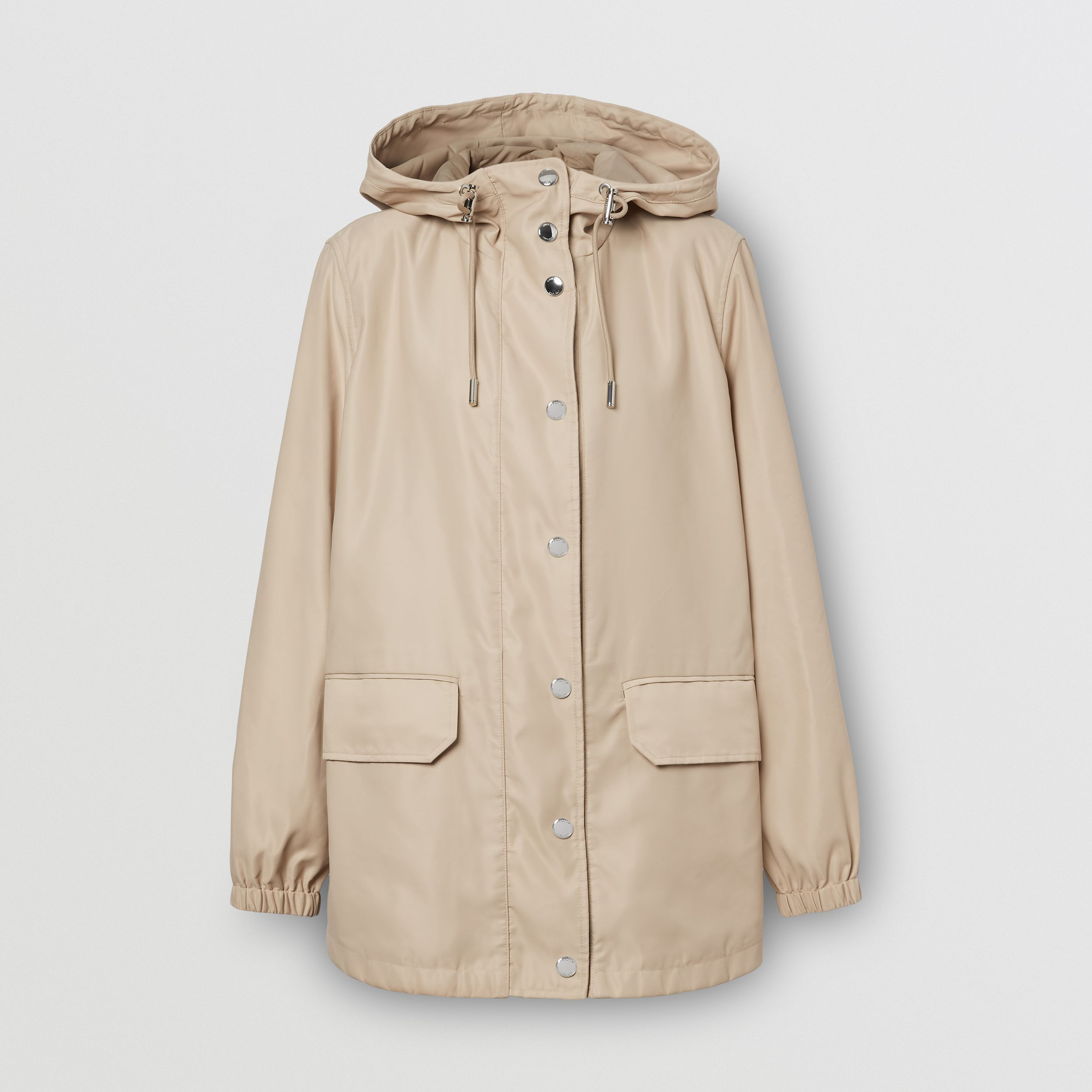 Horseferry Print Lightweight Hooded Parka in Soft Fawn - Women | Burberry - 4