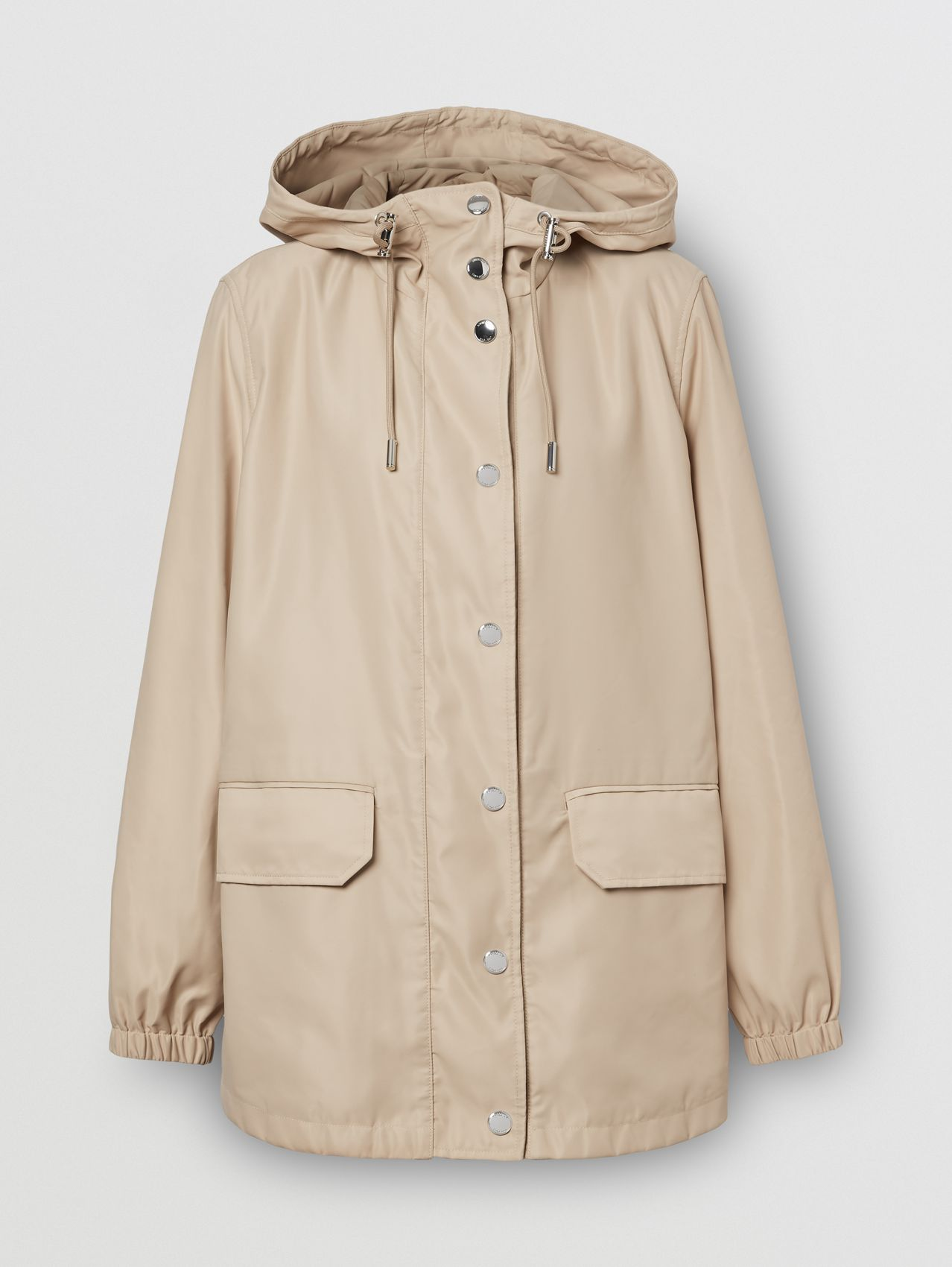 Horseferry Print Lightweight Hooded Parka in Soft Fawn