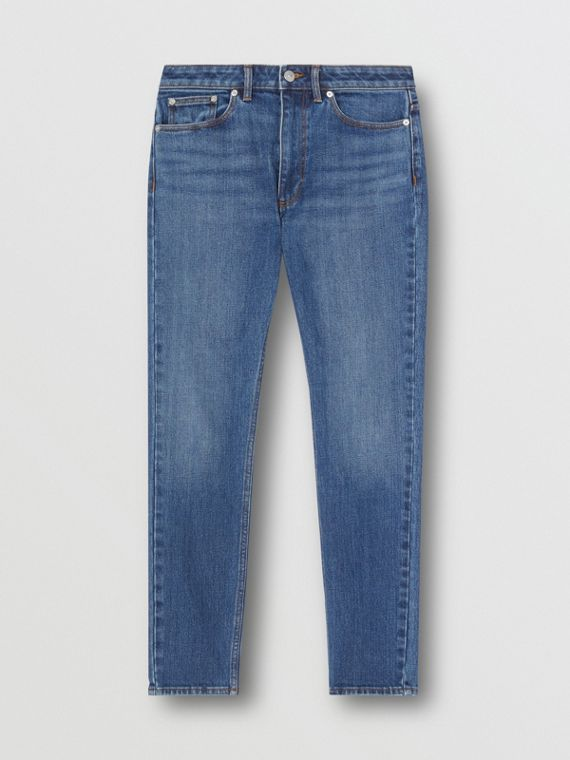 Skinny Fit Japanese Denim Jeans in Indigo Blue