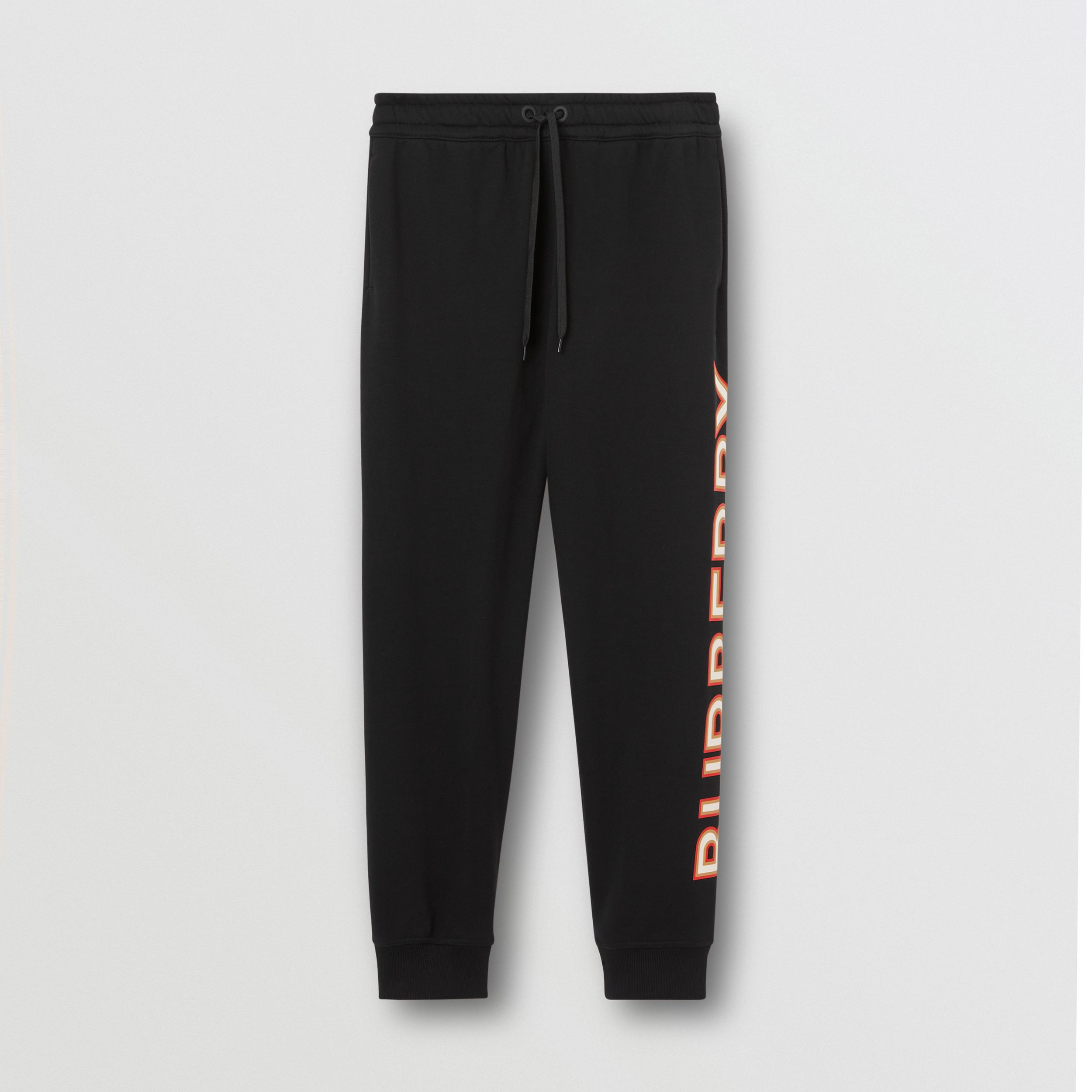 Logo Print Cotton Jogging Pants in Black - Women | Burberry - 4