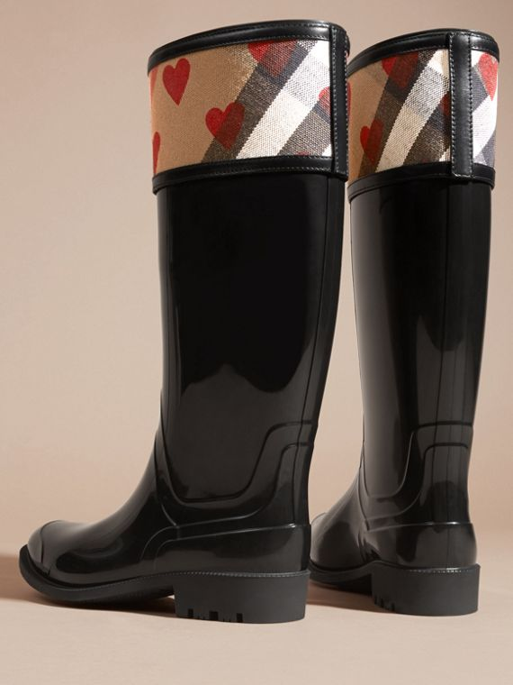 House check/parade red Heart and House Check Rain Boots - cell image 3