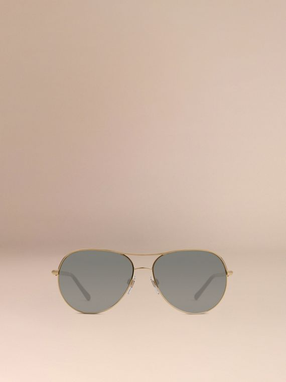 Gold Gabardine Collection Aviator Sunglasses Gold - cell image 2