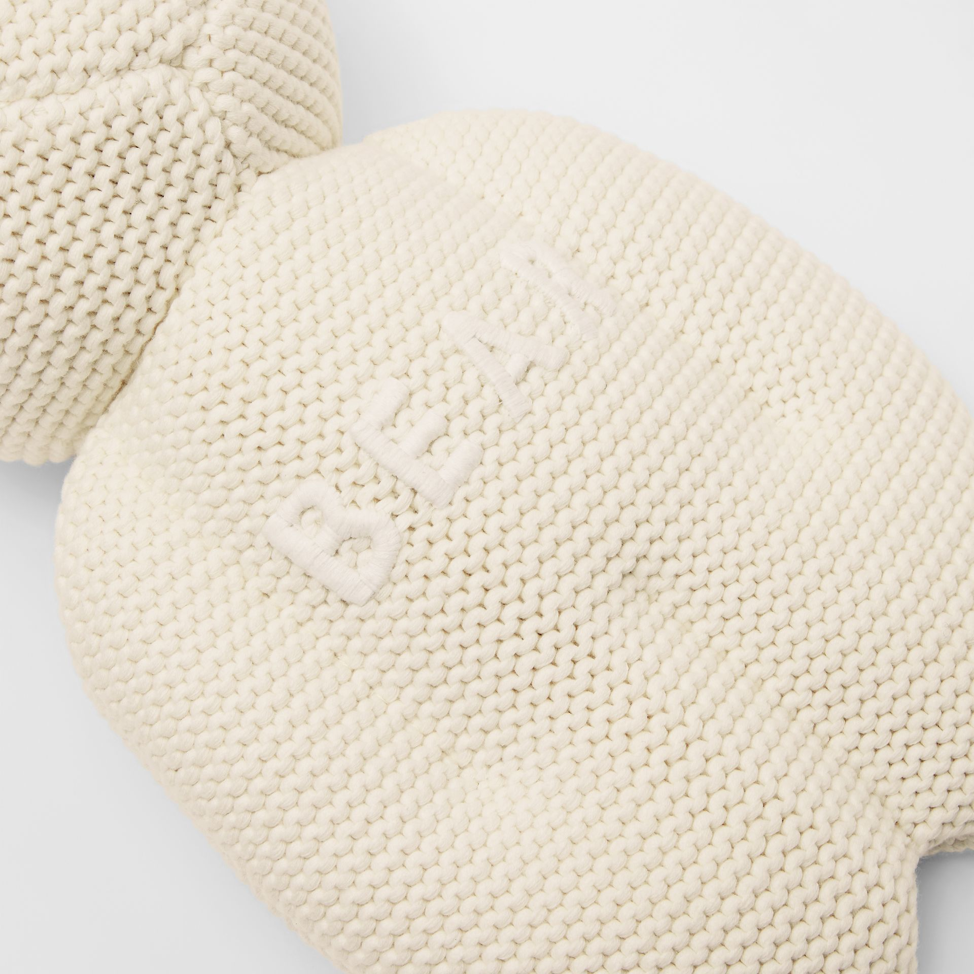 Cotton Cashmere Thomas Bear in Ivory - Children | Burberry United Kingdom - gallery image 3