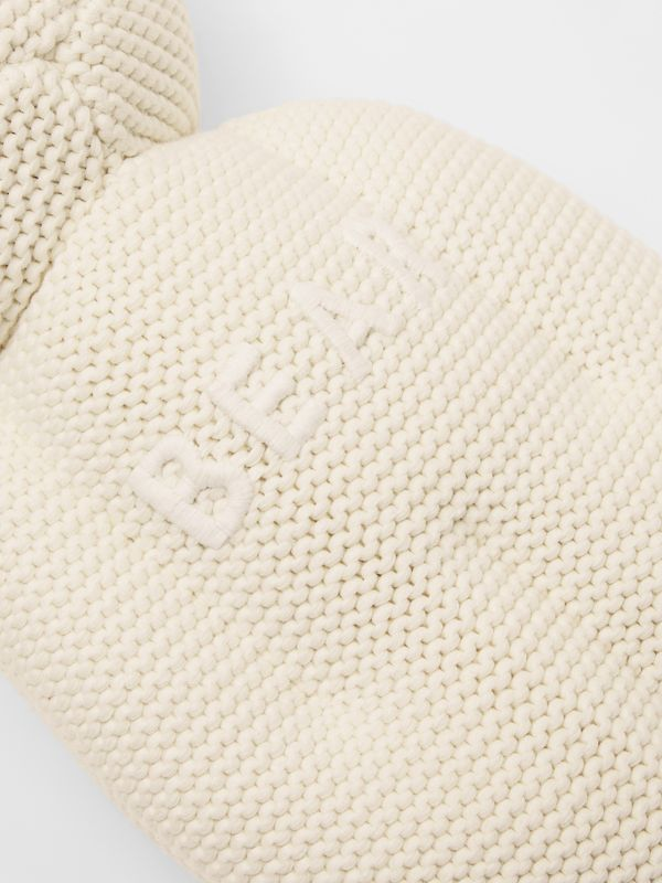 Cotton Cashmere Thomas Bear in Ivory - Children | Burberry United Kingdom - cell image 3