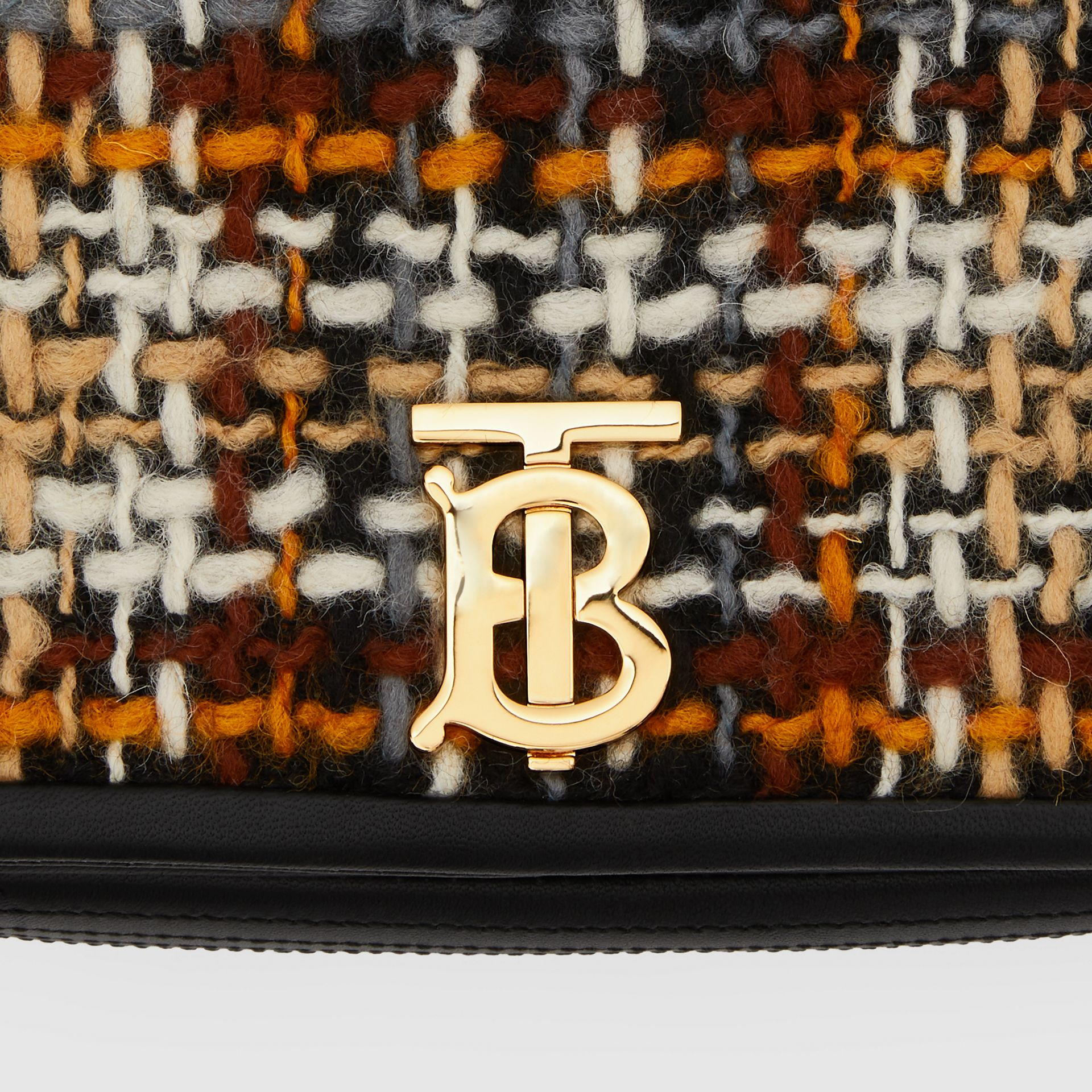 Small Tweed and Lambskin Lola Bag in Black - Women | Burberry - gallery image 9