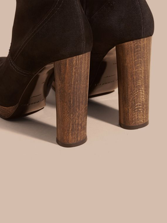 Black Suede Ankle Boots Black - cell image 3