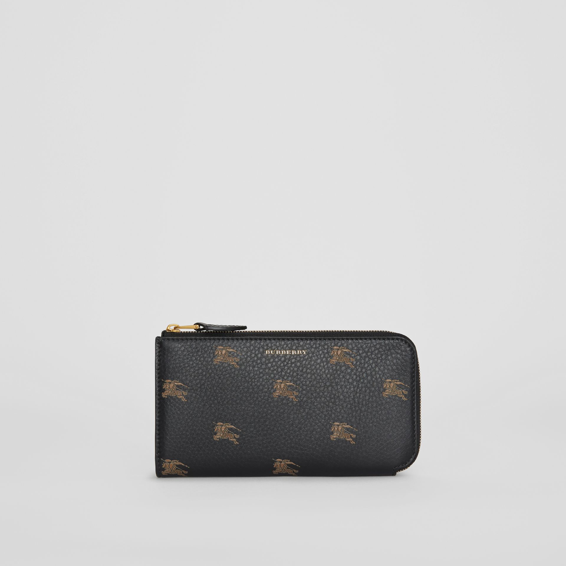 EKD Leather Ziparound Wallet and Coin Case in Black - Women | Burberry - gallery image 2