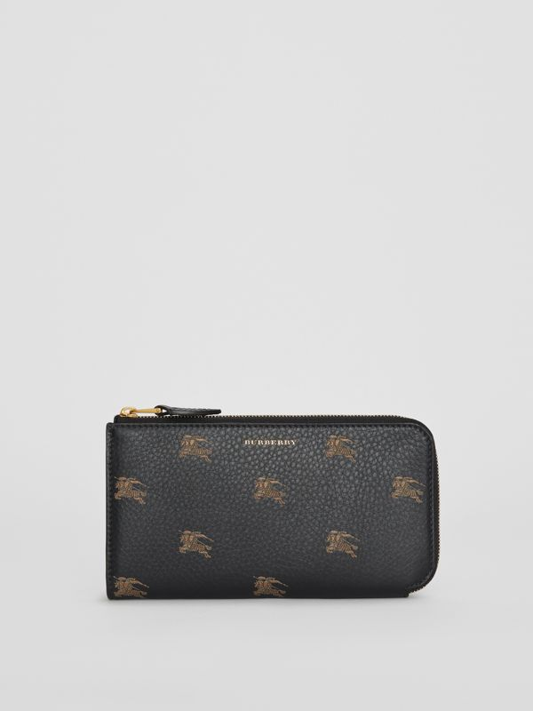 EKD Leather Ziparound Wallet and Coin Case in Black - Women | Burberry Australia - cell image 2