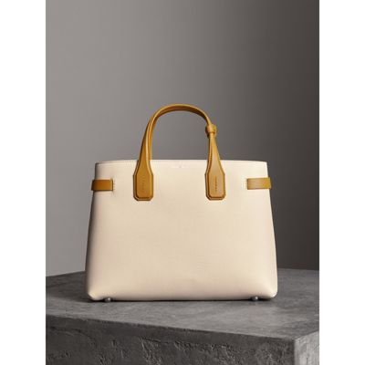 Burberry - Sac The Banner moyen en cuir bicolore - 6