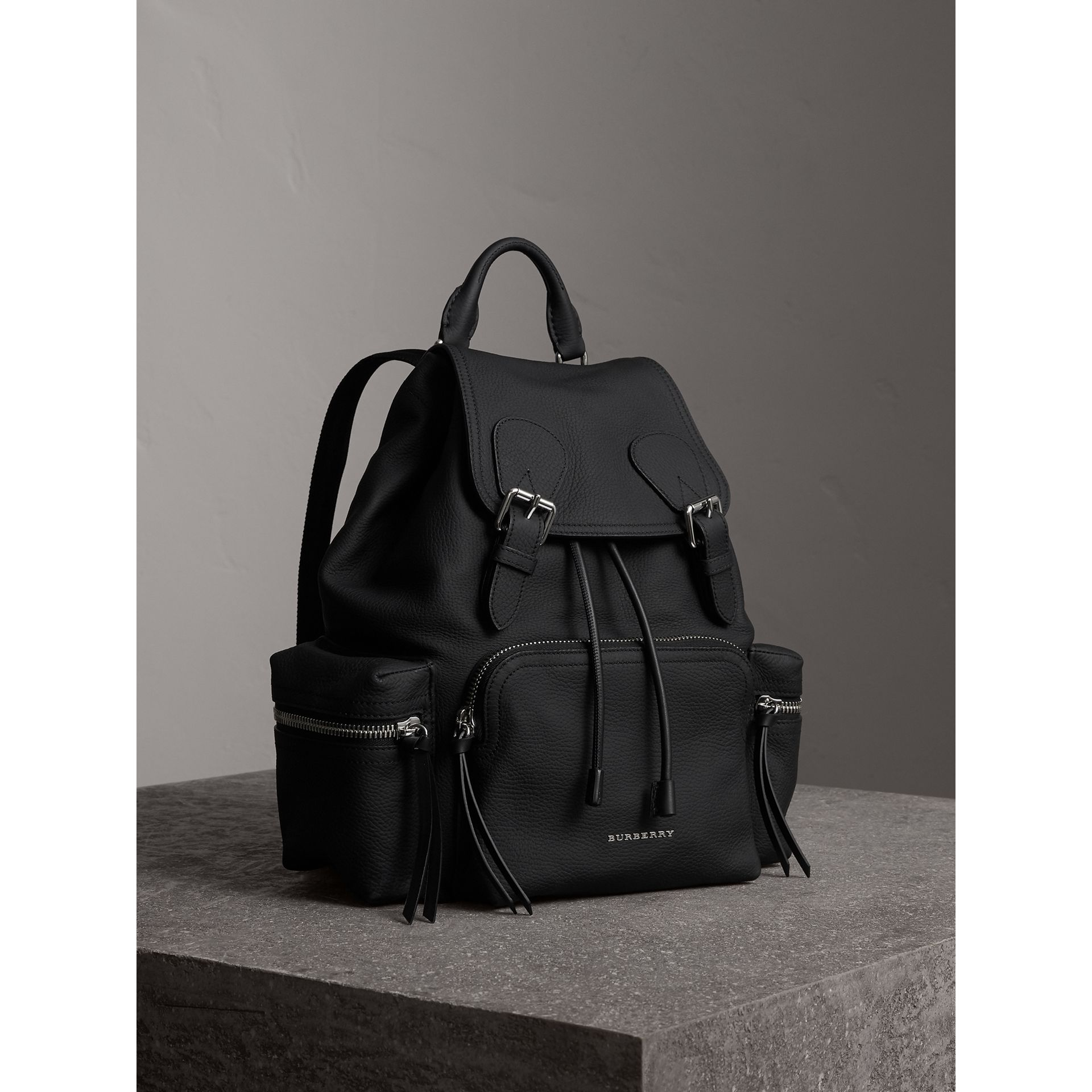 The Medium Rucksack in Deerskin with Resin Chain in Black - Women | Burberry - gallery image 0