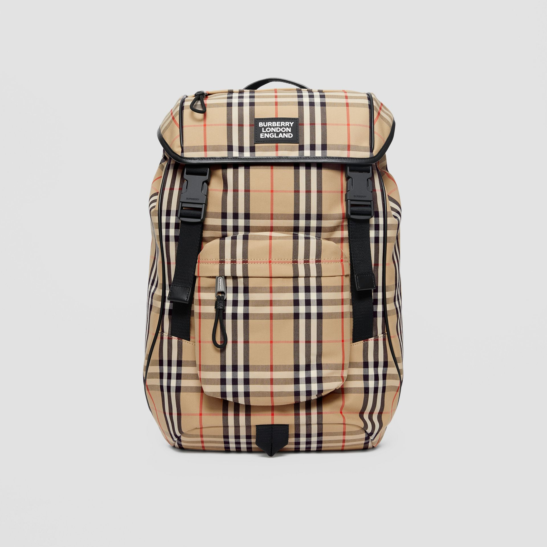 Logo Detail Vintage Check Backpack in Archive Beige | Burberry - gallery image 0