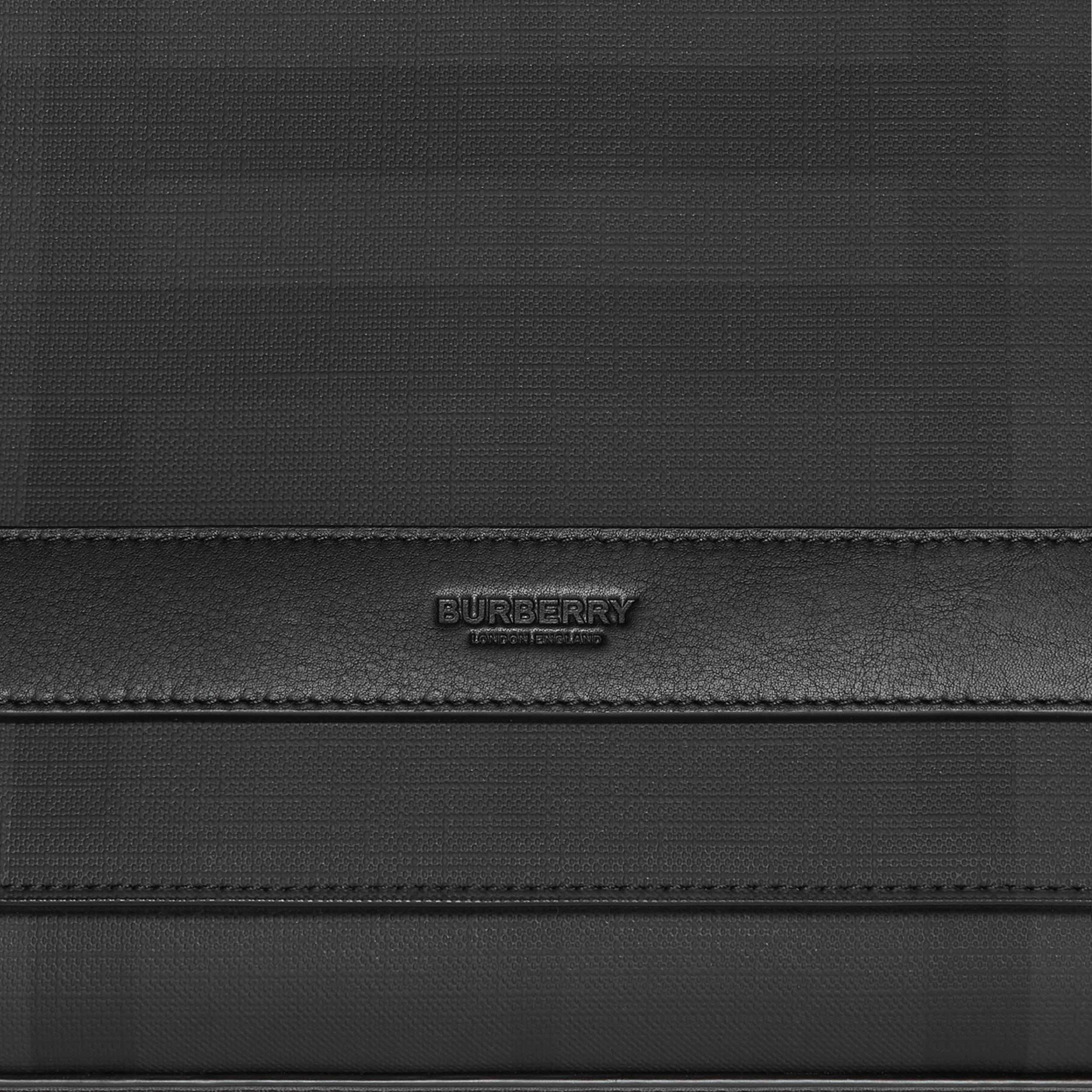 London Check and Leather Messenger Bag in Dark Charcoal - Men | Burberry - 2