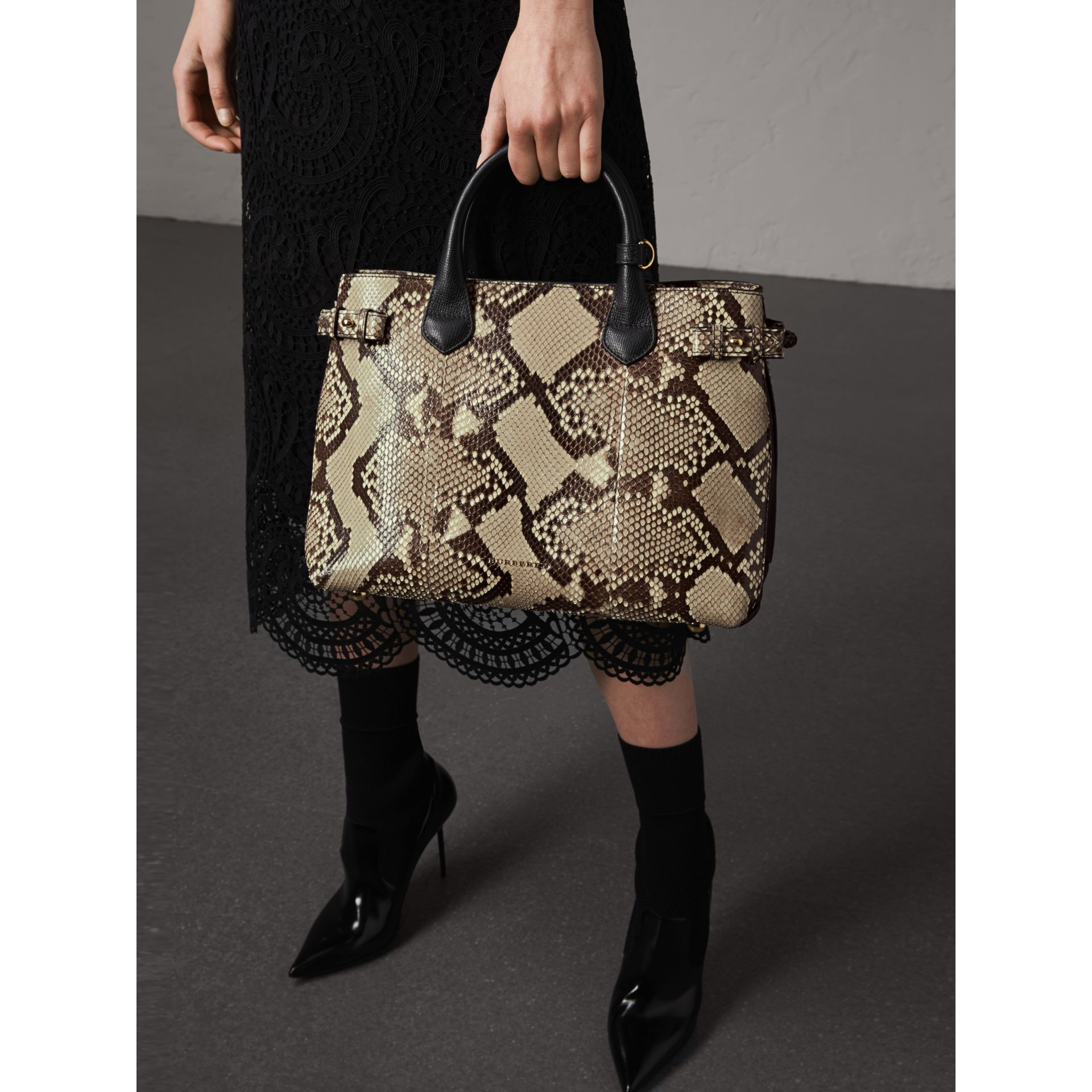 Sac The Banner medium en python - Femme | Burberry - photo de la galerie 4