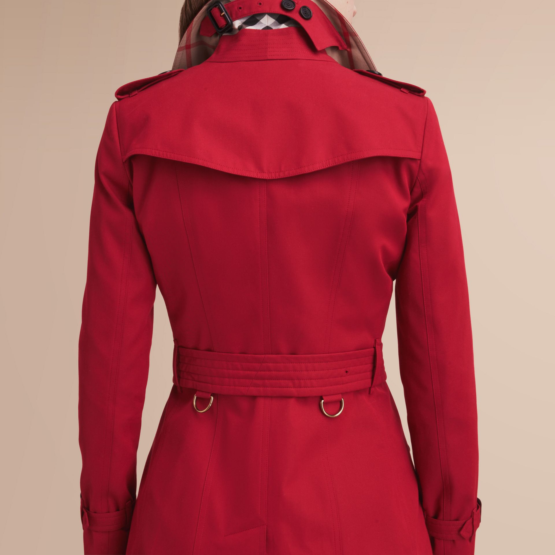 The Chelsea – Mid-length Heritage Trench Coat in Parade Red - gallery image 5