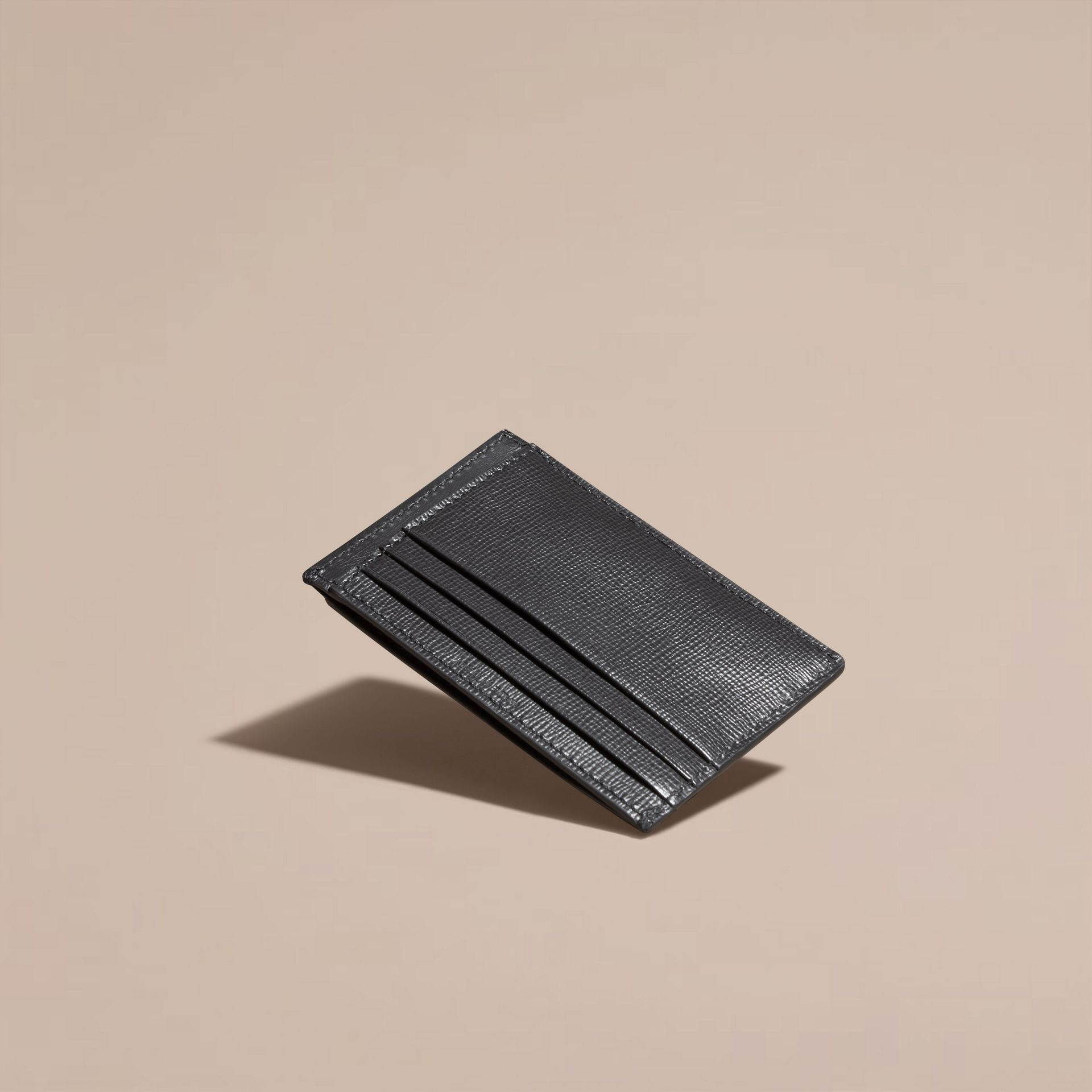 Charcoal London Leather Card Case Charcoal - gallery image 4