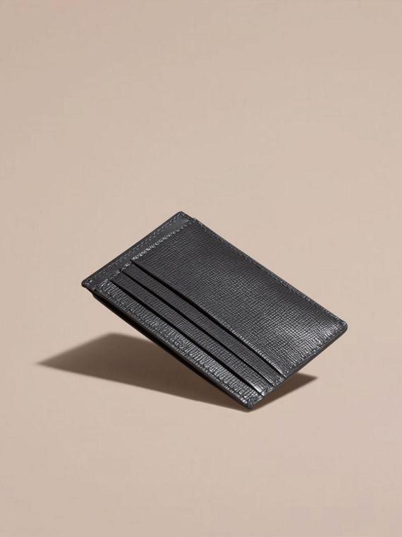 Charcoal London Leather Card Case Charcoal - cell image 3